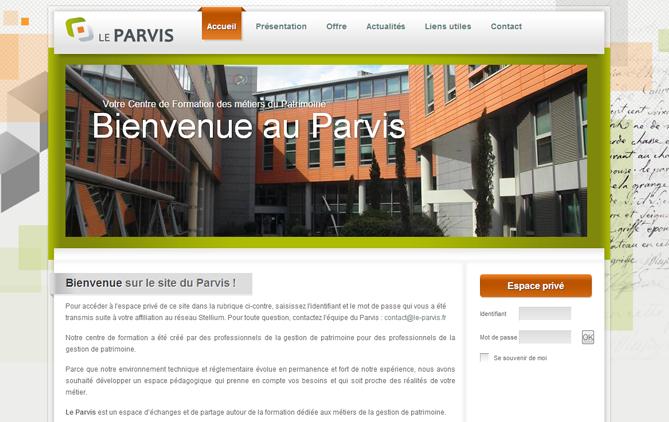 Aperçu du site web du Parvis2